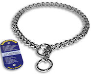 Choke Chain Dog Collar - Steel Chrome plated - 51012(02)